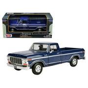 1979 Ford F-150 Pickup Truck Dark Blue 1/24 Diecast Model Car by Motormax