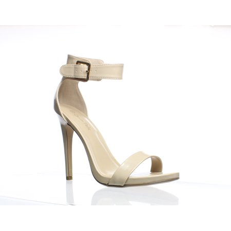 DREAM PAIRS Womens Elegantee Nude Patent Ankle Strap Heels Size