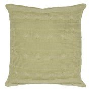"""Rizzy Home Decorative Poly Filled Throw Pillow Cable Knit 18""""X18"""" Light Green"""
