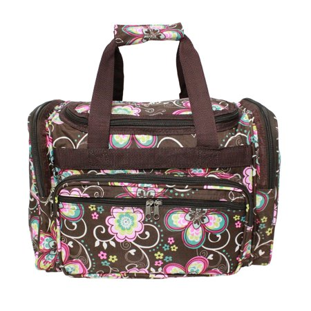 World Traveler Value Series Daisy 16-Inch Carry-On Duffel Bag - Brown Daisy