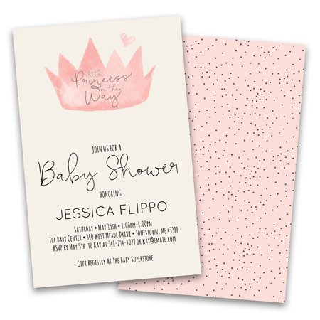 Personalized Pink Crown Baby Personalized Baby Shower Invitations - Sprinkle Baby Shower Invitations