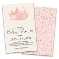 Personalized Pink Crown Baby Personalized Baby Shower Invitations