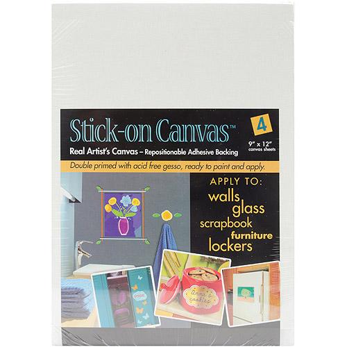 "Duro Stick On Artist Canvas, 4-Pack, 9"" x 12"""