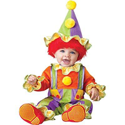 uhc baby boy's cuddly clown infant toddler fancy dress child halloween costume, 18m-2t - Cheap Kids Fancy Dress Costumes