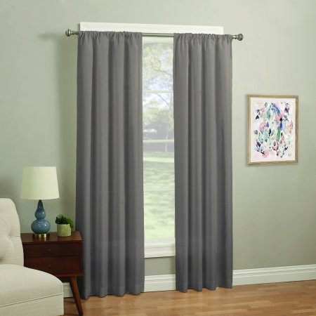 Mainstays 37'' x 84'' Fashion Solid Window Curtain in Taupe