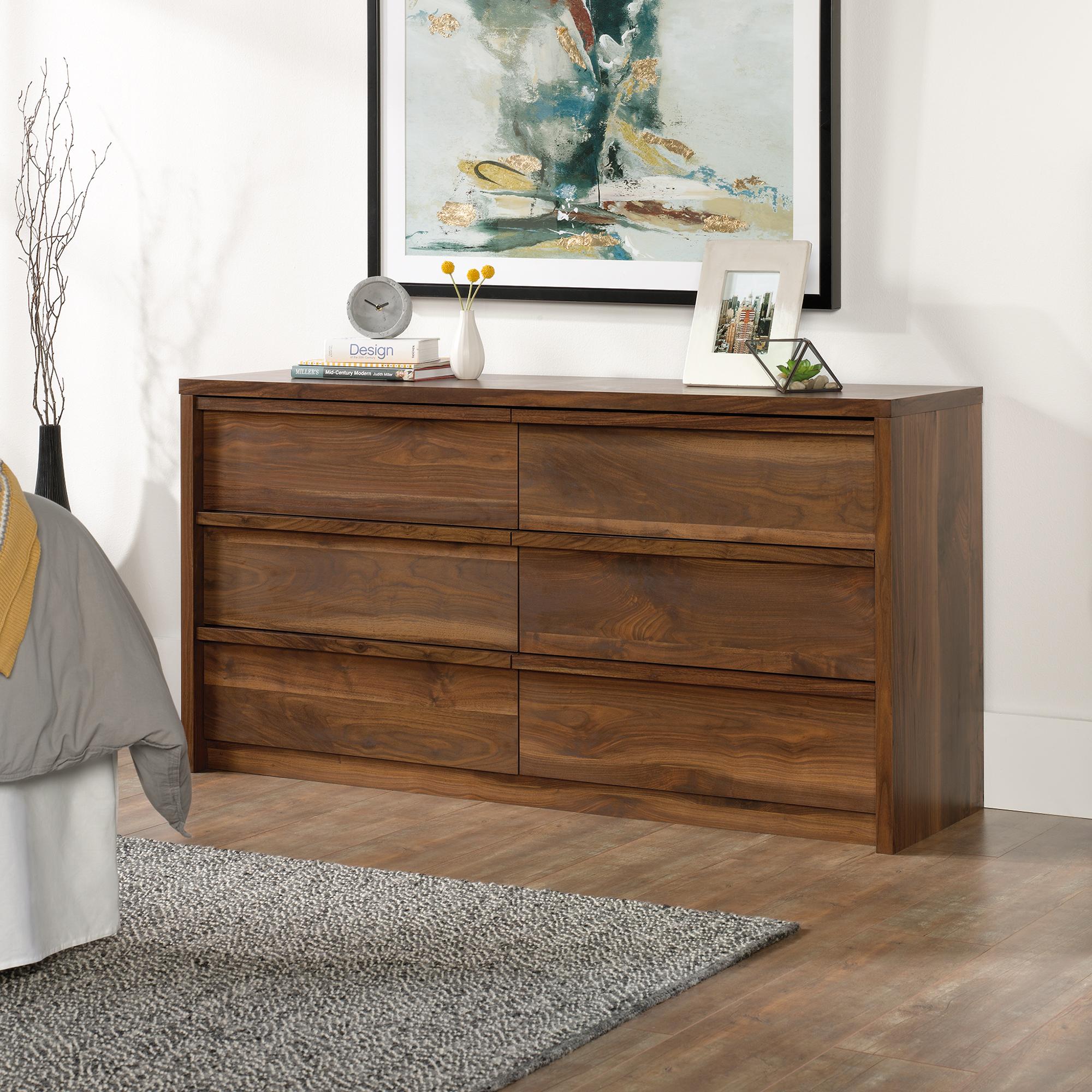 Sauder Harvey Park Dresser, Grand Walnut Finish