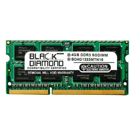 Notebook Memory Slots (4GB Black Diamond Memory Module for Acer Aspire Notebooks 5553 (2 Memory Slots) DDR3 SO-DIMM 204pin PC3-10600 1333MHz Upgrade)