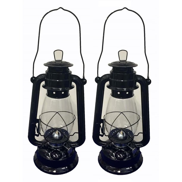 Lot Of 2 12 Inch Black Hurricane, Decorative Hurricane Lamps Black