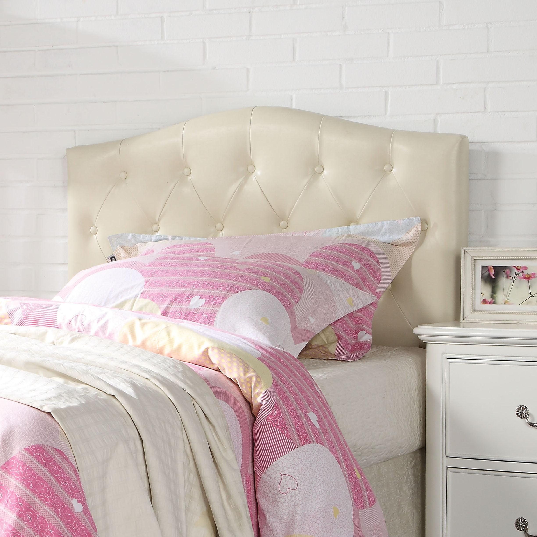 Acme furniture viola cream pu queen full headboard walmart com