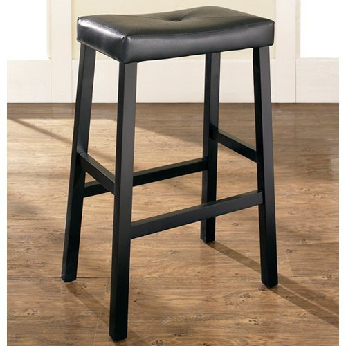 Crolsey Upholstered 29 In Saddle Seat Bar Stool Set Of
