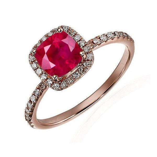 Stunning 1.25 Carat Round Natural Ruby And