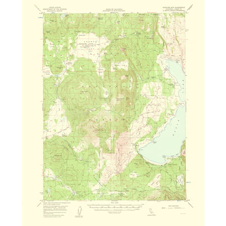 Old Topographical Map Print   Antelope Mountain California Quad   Usgs 1963   23 X 28 38