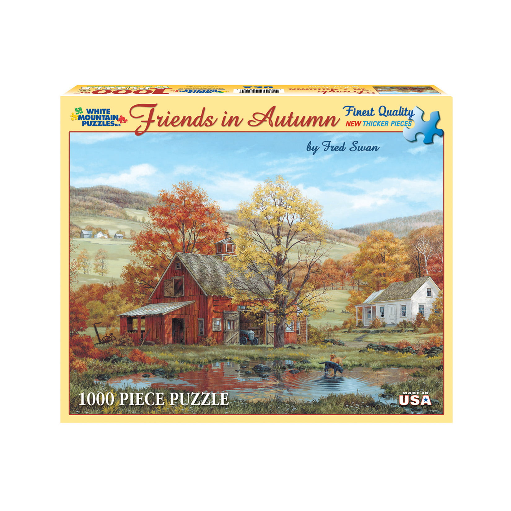 White Mountain Puzzles Friends in Autumn 1000 Piece Jigsaw Puzzle by White Mountain Puzzles