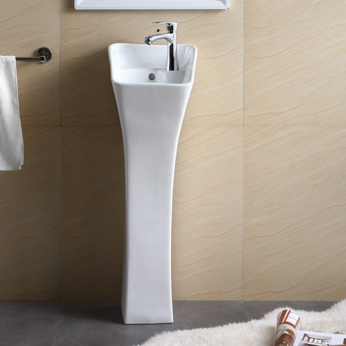 Beau Fine Fixtures Vitreous China 11u0027u0027 Pedestal Bathroom Sink