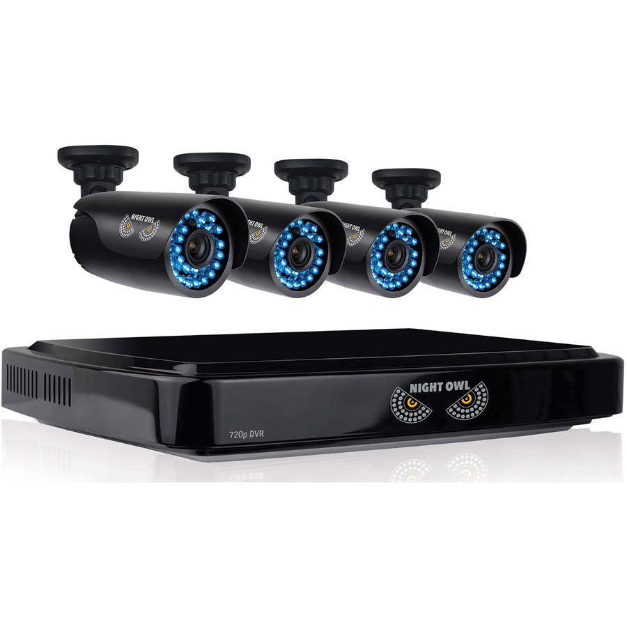 Night Owl CL-441-720P 4-Channel Smart HD Video Security System with 1TB HDD and Four 720p HD Cameras