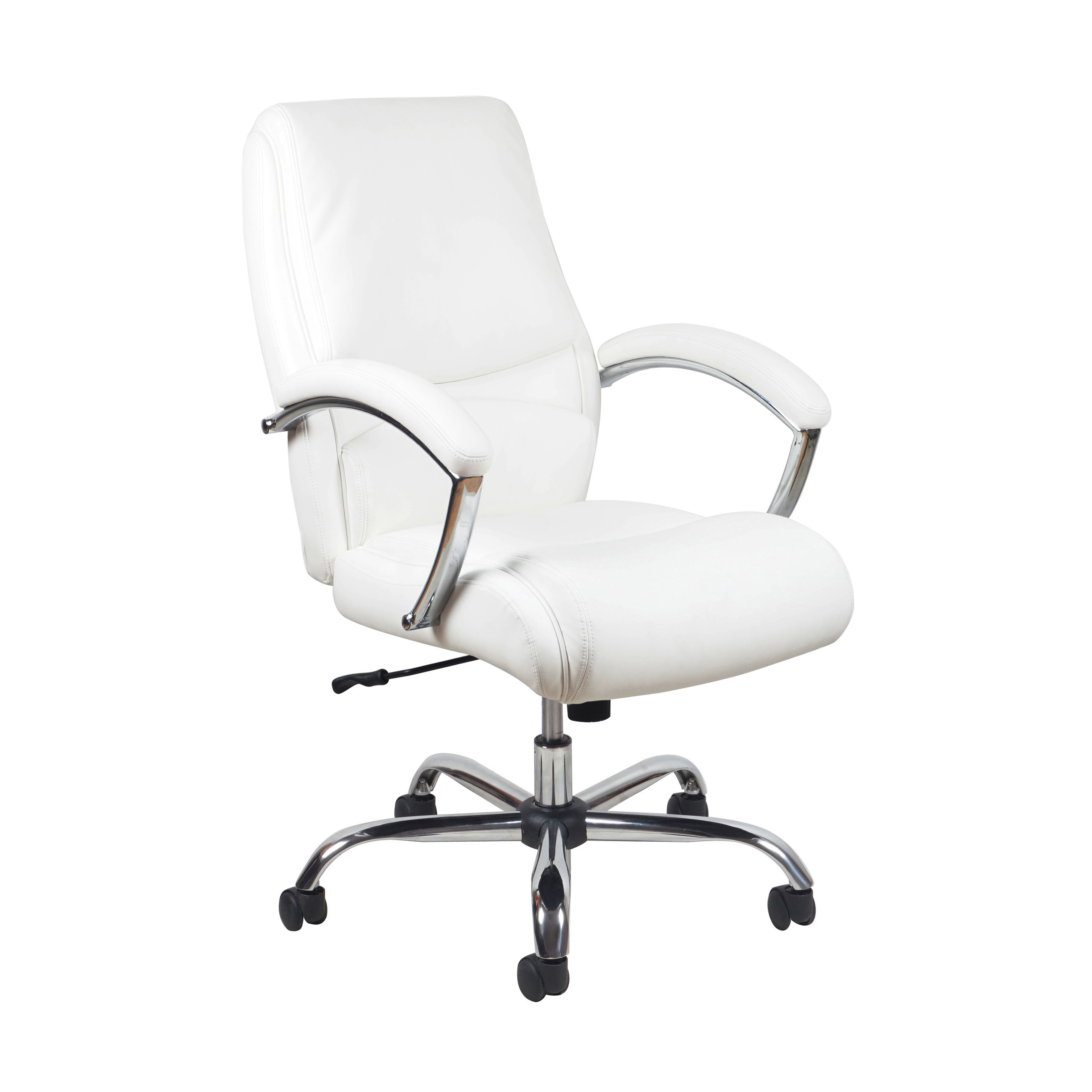 Essentials By OFM ESS 6070 Ergonomic High Back Leather Executive Chair,  White With Chrome Finish   Walmart.com