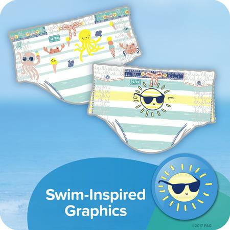 Pampers Splashers Snug Fit Swim Diapers, Size M, 18 Ct