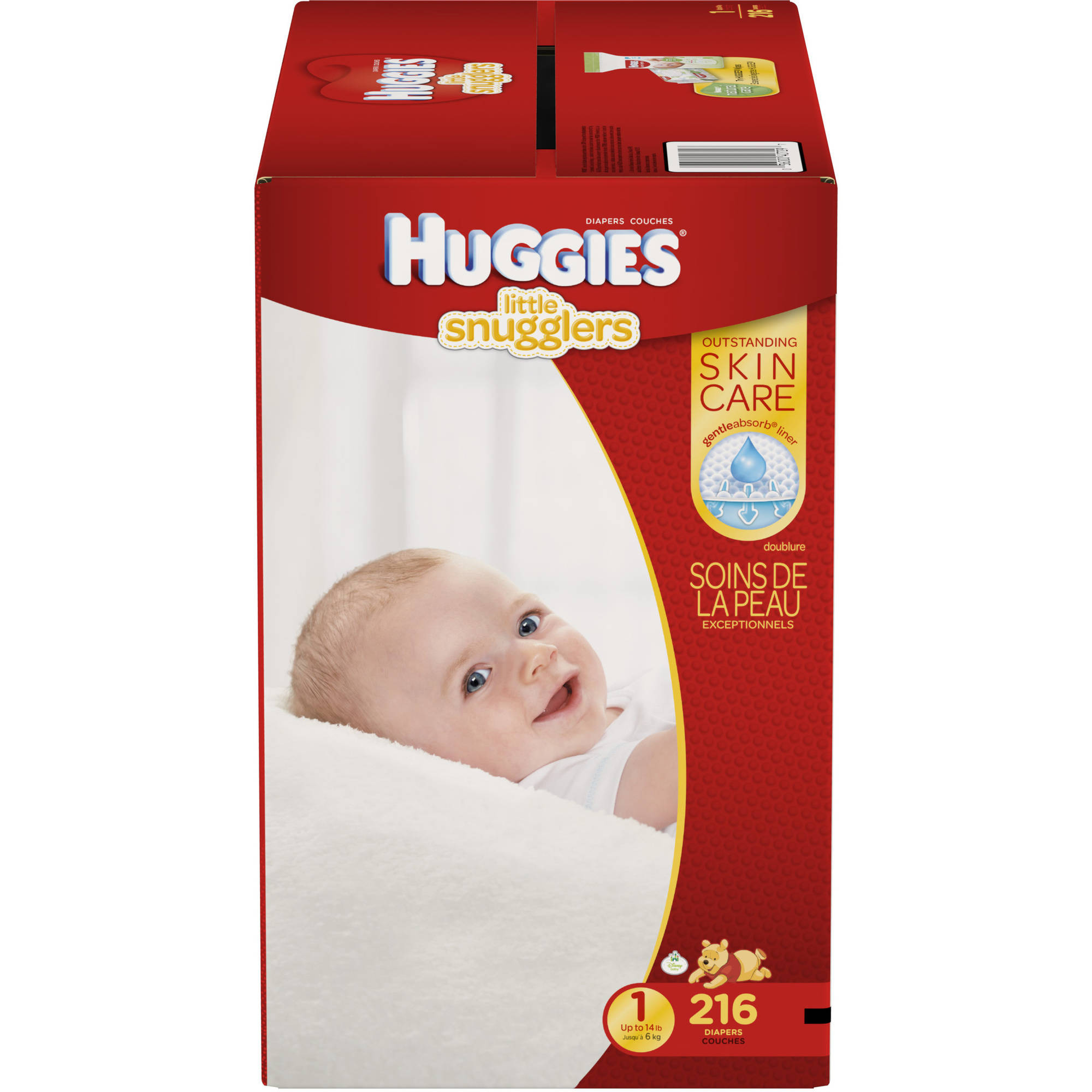 HUGGIES Little Snugglers Diapers, Economy Plus Pack (Choose Your ...