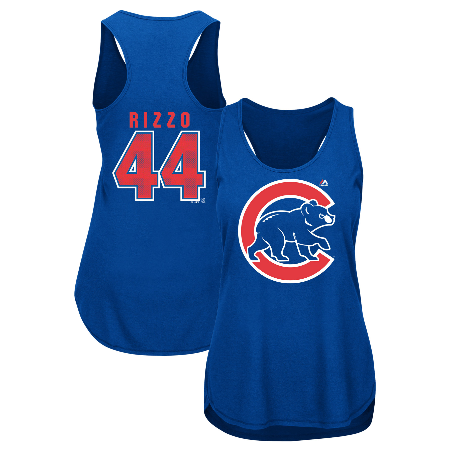 Anthony Rizzo Chicago Cubs Majestic Women's Men of October Player Tank Top - Royal