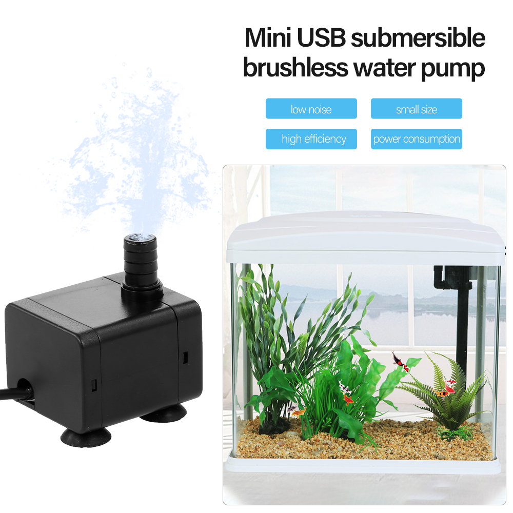 Water Pump Submersible Electric Quiet Small For Aquarium Fountain Pond Fish Tan