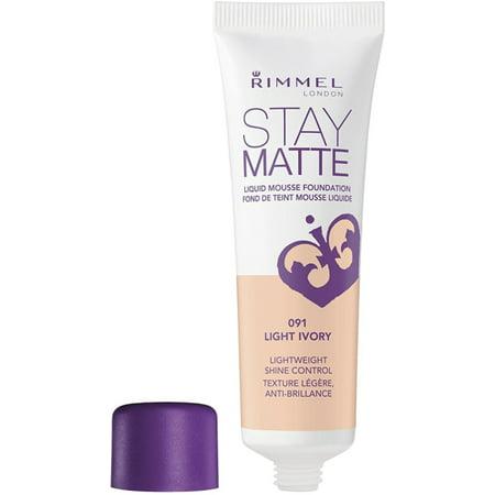 2 Pack - Rimmel London Stay Matte Foundation, [091] Light Ivory 1 oz