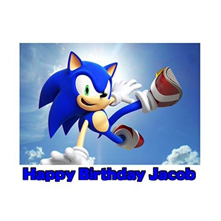 1/4 Sheet Sonic the Hedgehog Edible Frosting Cake Topper- 76420* - Halloween Sheet Cake Ideas