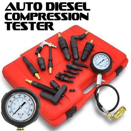 Diesel Test - Auto Diesel Engine Compression Testing Kit, 14pc
