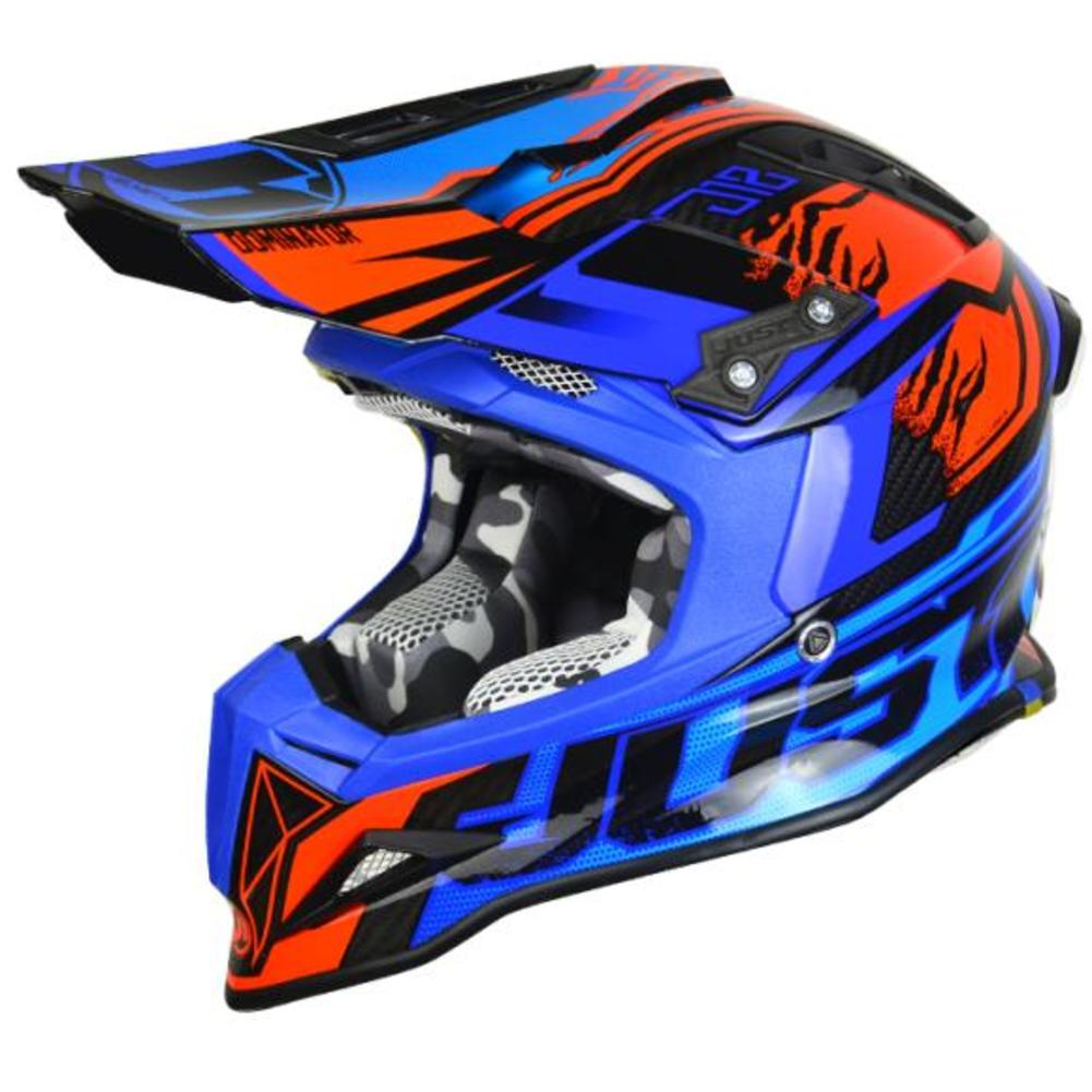 Just 1 J12 Dominator MX Offroad Helmet Blue/Red