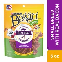Purina Beggin' Small Breed Dog Treats, Littles Original With Bacon - 6 oz. Pouch