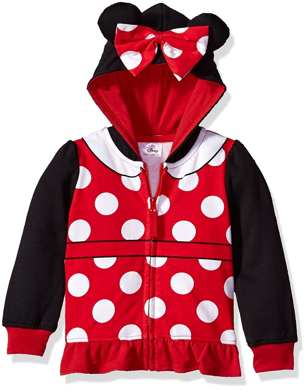 Disney Toddler Girls' Minnie Mouse Costume Zip-up Hoodie