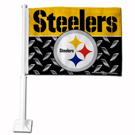 Pittsburgh Steelers Decorations (Rico Industries NFL Car Flag, Pittsburgh)