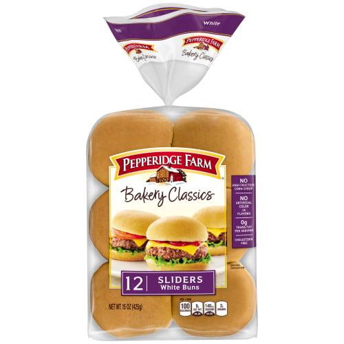 Pepperidge Farm Bakery Classics White Slider Buns, 15 oz. Bag, 12-pack