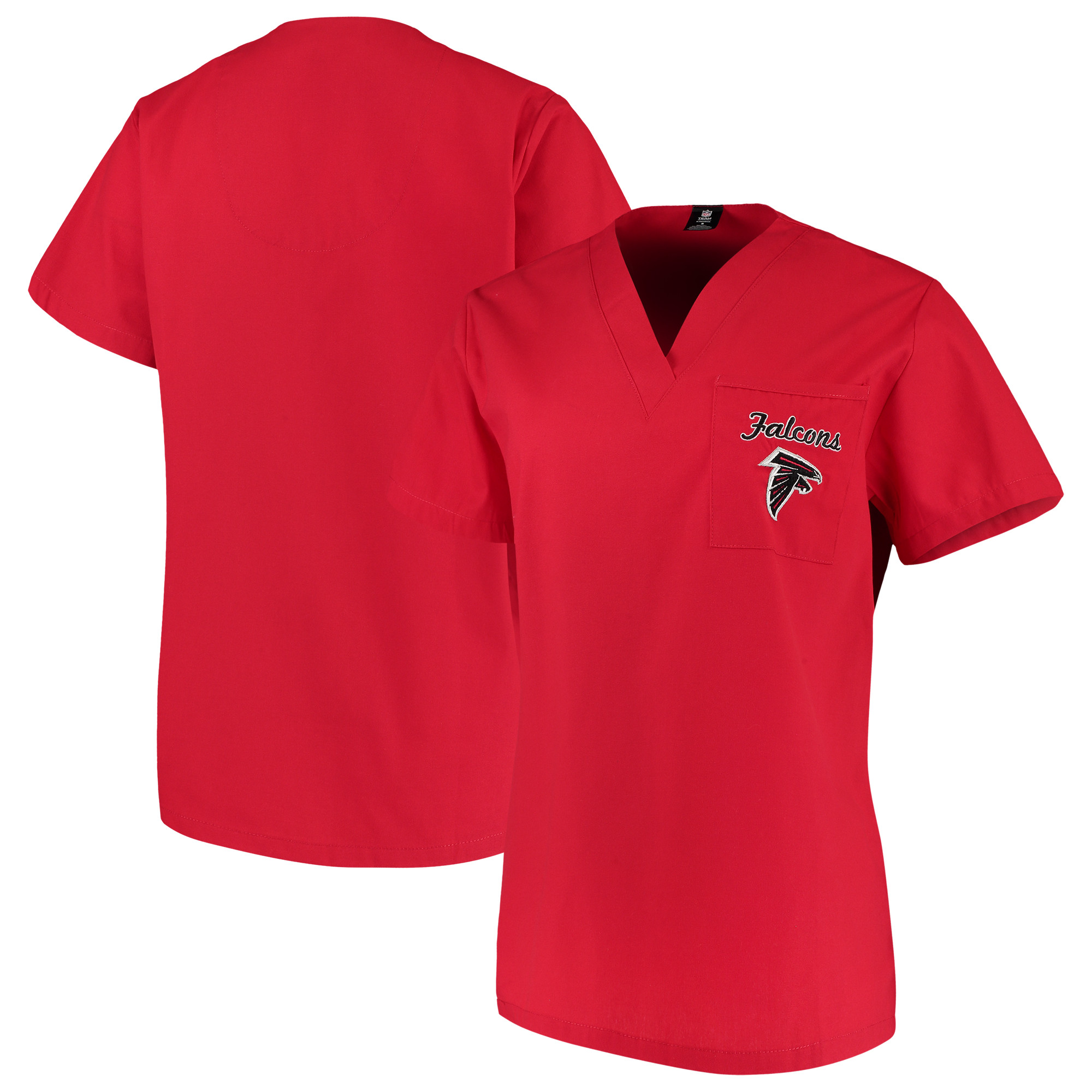 Atlanta Falcons Concepts Sport Women's Scrub Top - Red