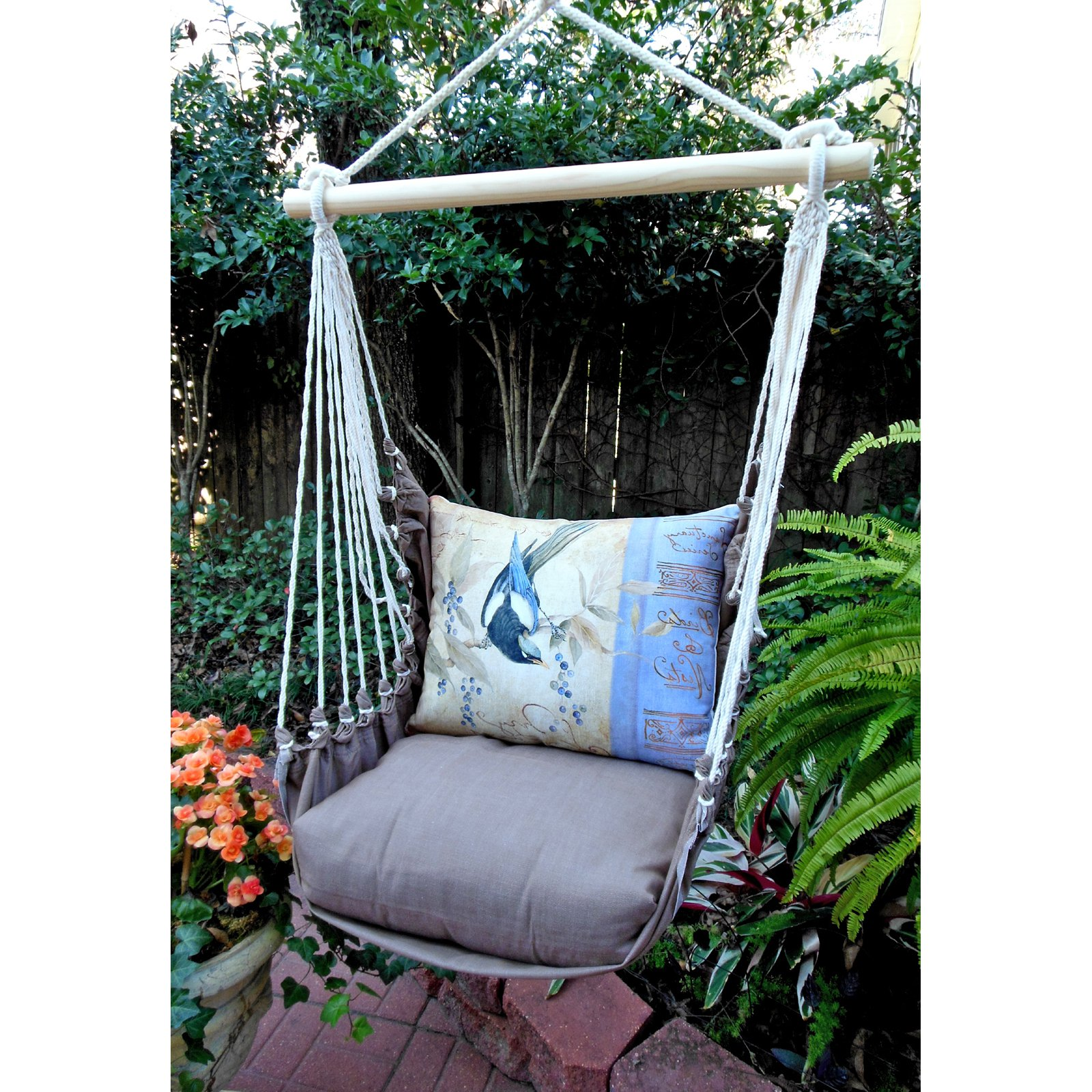 Magnolia Casual Bluejay Hammock Chair & Pillow Set