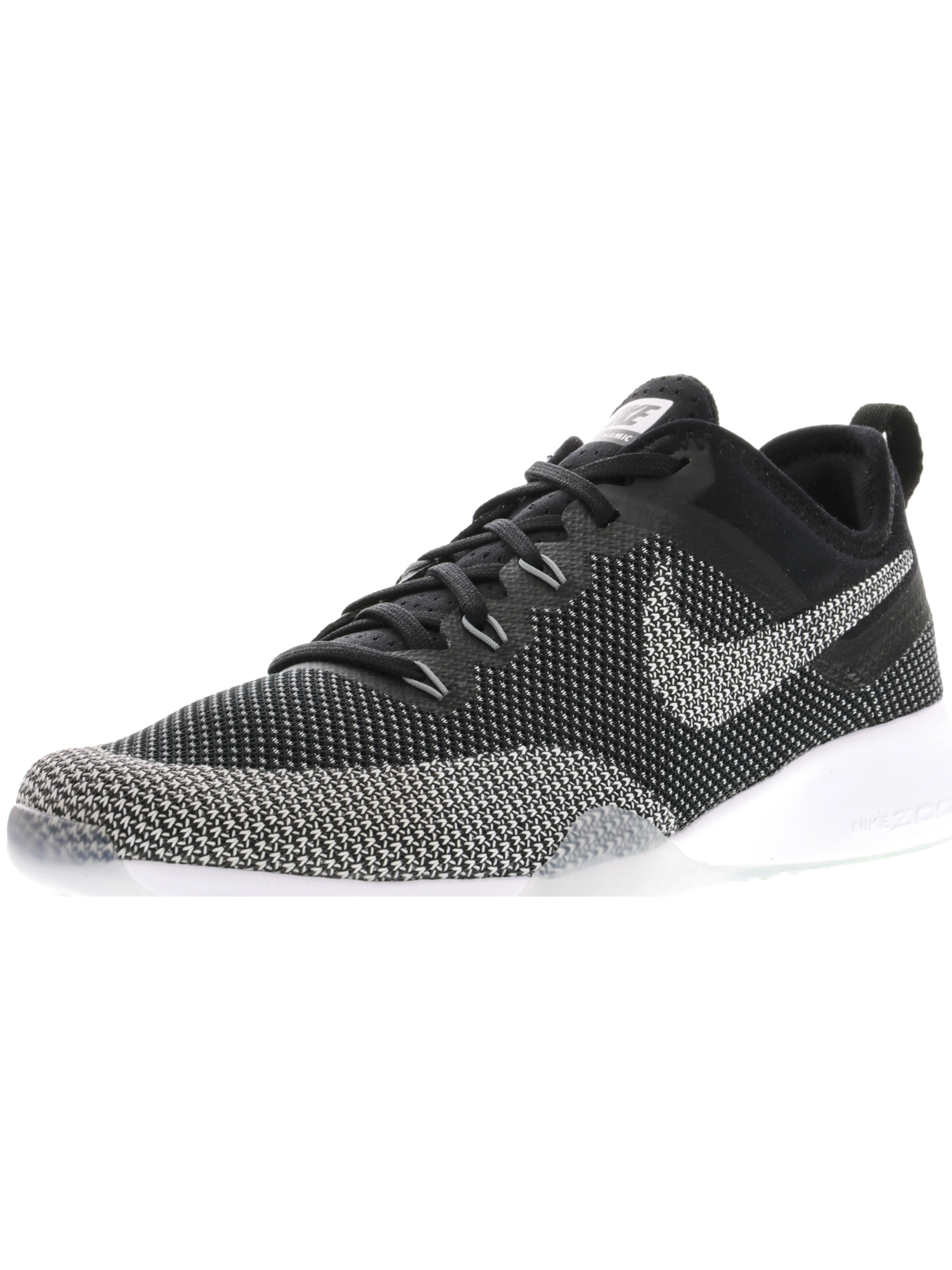 White Cool Grey Ankle-High Running Shoe