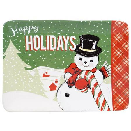 The Holiday Aisle Retro Christmas Rectangular Platter