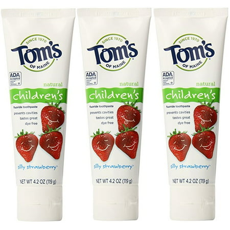 Tom's Of Maine Silly Strawberry Anticavity Toothpaste 3 - Maine Toms