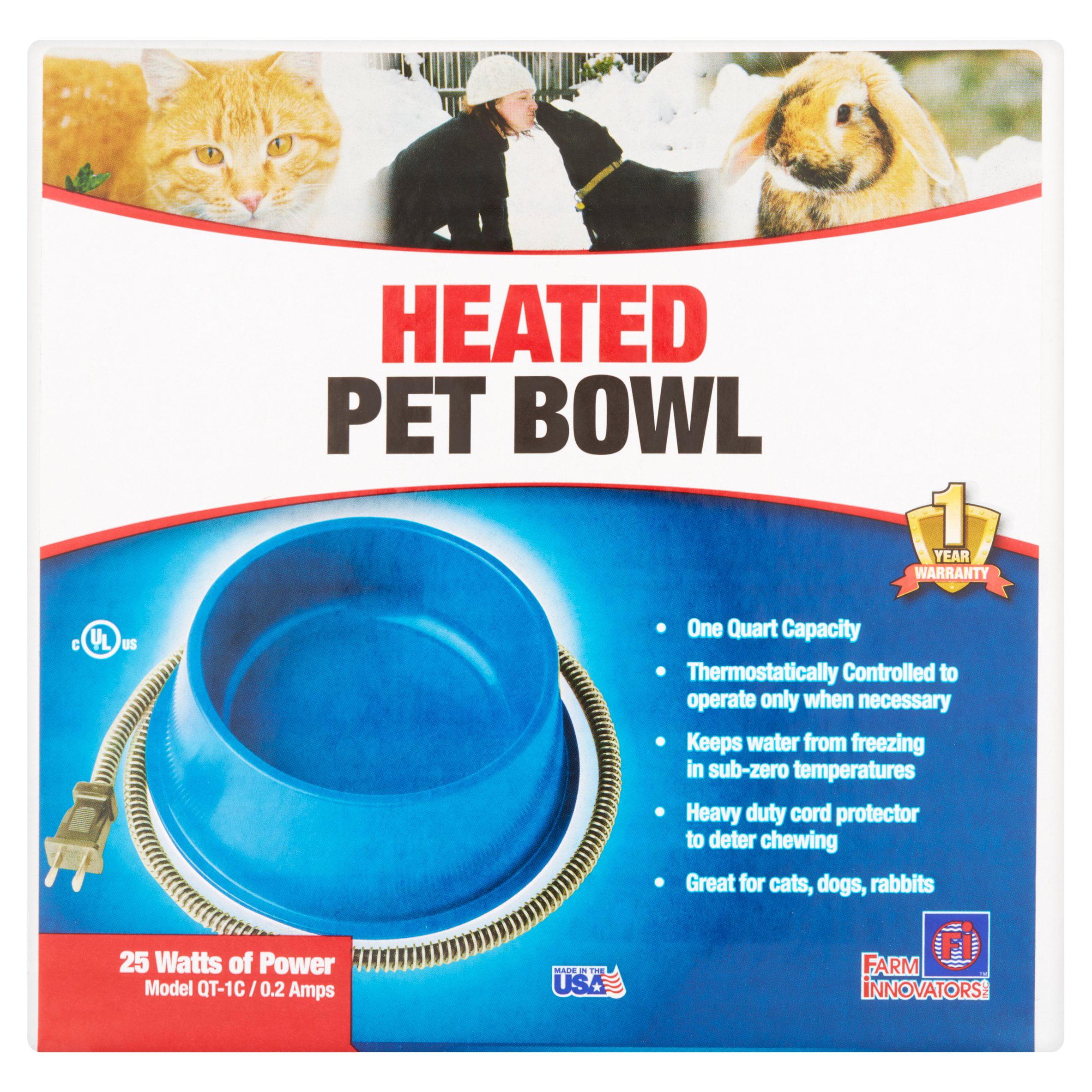 Farm Innovators 25 Watts of Power Heated Pet Bowl by Heated Pet Bowls