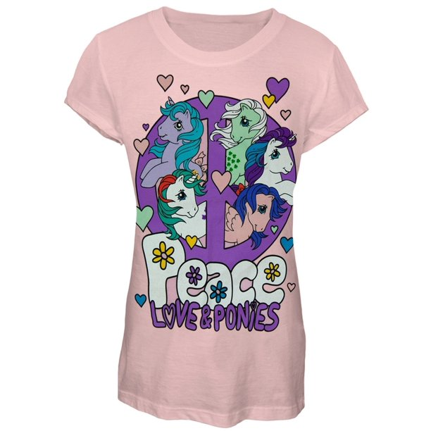 My Little Pony - Peace Love and Ponys Girls Juvy T-Shirt - Juvy Medium