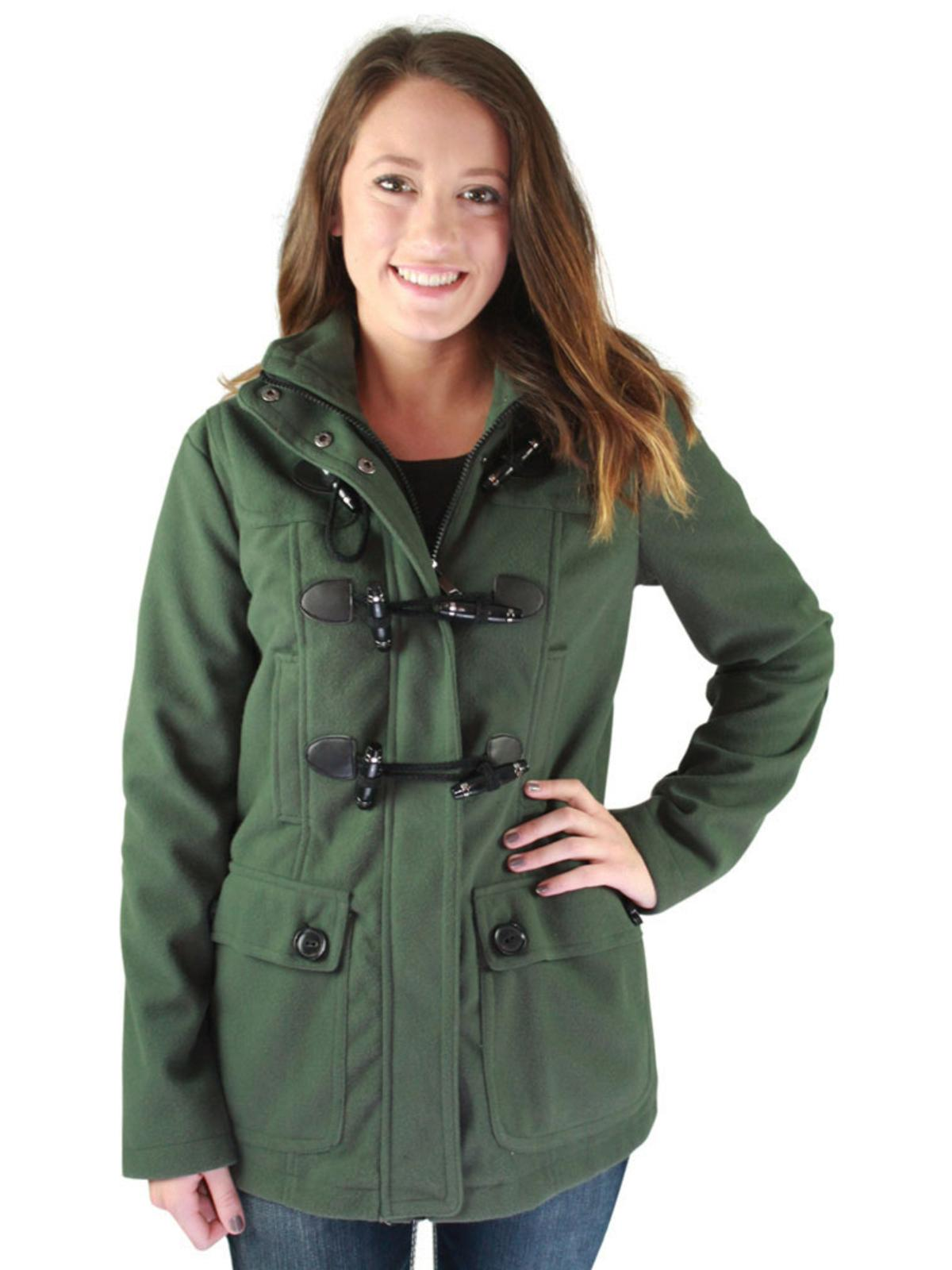 Urban Republic Juniors Hooded Toggle Wool Coat Winter Jacket