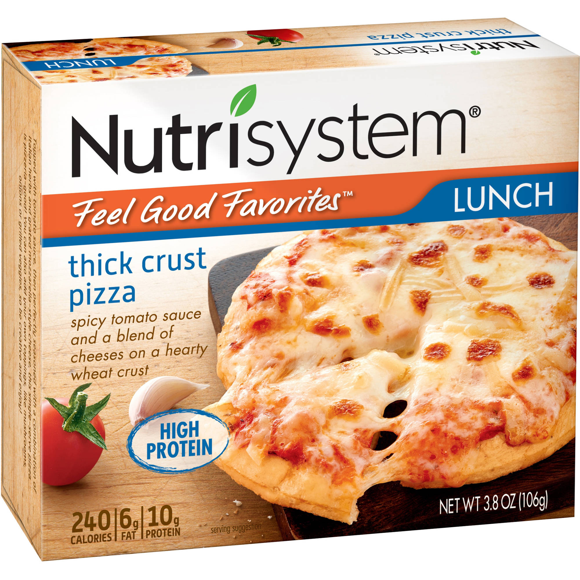 Nutrisystem Feel Good Favorites Thick Crust Pizza, 3.8 oz