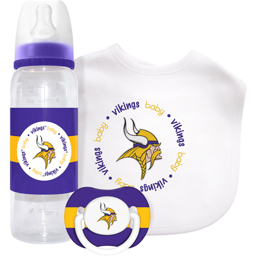 Baby Fanatic 3 Piece NFL Gift Set, Minnesota Vikings