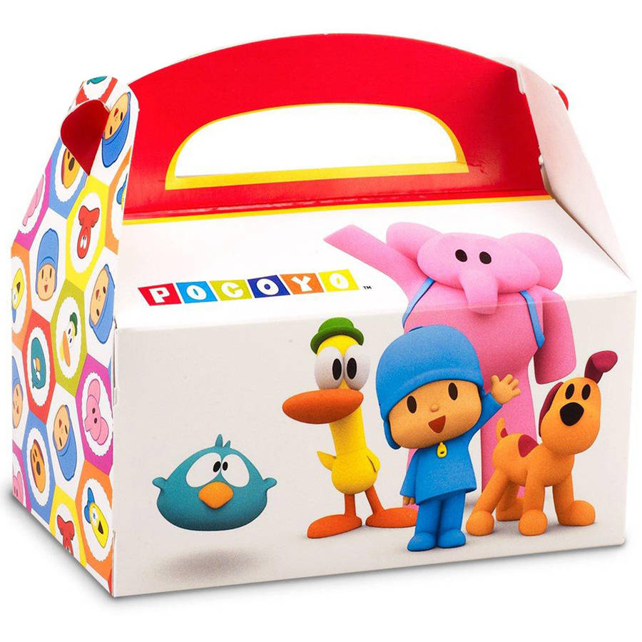 Pocoyo Empty Favor Boxes, 4pk