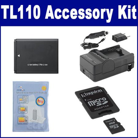 Samsung TL110 Digital Camera Accessory Kit includes: SDBP70A Battery, SDM-1516 Charger, ZELCKSG Care & Cleaning, M45547 Memory Card (Digital Cameras Samsung)