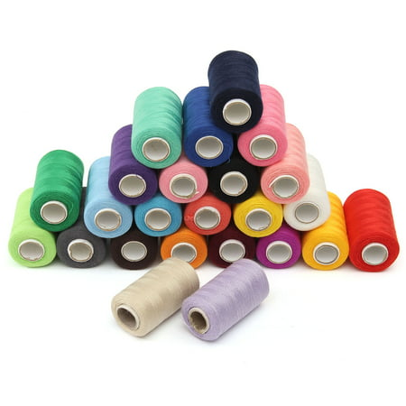 - KingSo 24 Assorted Colors Polyester Sewing Thread Spool 1000 Yards Each For Machine&By Hand