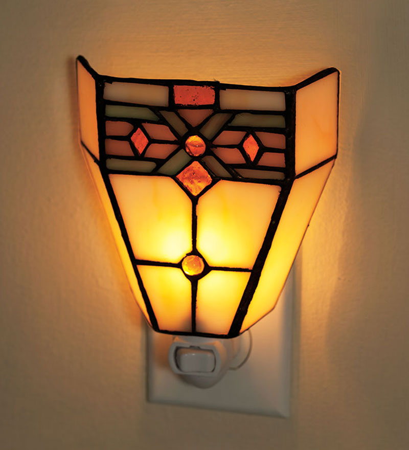 Tiffany-Style Stained Glass Mission Style Night Light