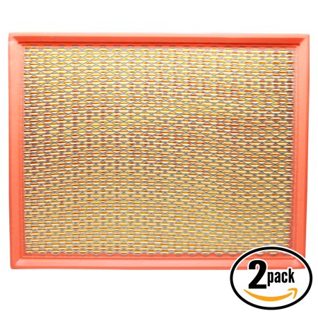 2-Pack Replacement Engine Air Filter for 2008 Cadillac Escalade ESV V8 6.2 Car/Automotive - Flexible Panel Filter,