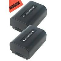 Pack of 2 NP-FV50 Batteries for Sony Handycam Camcorder + More!!