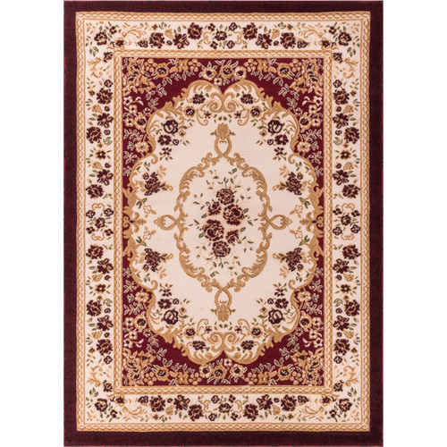 Well Woven Dulcet Versaille Red/Beige Floral Area Rug