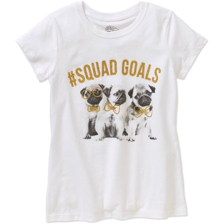 Squad Goals For Halloween (Girls' Pug #Squad Goals Graphic)